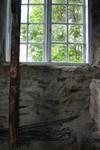 Detalj - gjuthusväggen från insidan