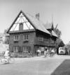 Burmeisterska huset från 1600-talets mitt och Donners plats. Bilden troligen från 1940-talets första hälft.