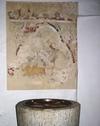 Skeda kyrka, fragment av medeltida kalkmåleri.
