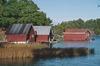 Båthusen på Horsö S:1 och 1:29, från SV.