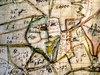 1706 års karta, Lantmäteriet i Kalmar.