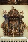 Altaruppsatsen, barockarbete från 1672.