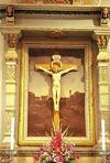 Närbild på altartavlan.