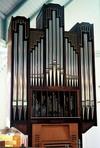 Orgeln i södra korsarmen.