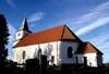 Kyrkans sydsida.