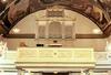 Läktarens utseende är från 1855, samtidig med orgelfasaden efter ritningar av C G Blom Carlsson.