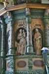 Detalj av predikstol i Gustaf Adolfs kyrka. Neg.nr. 04/168:11. JPG.