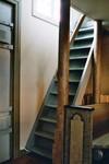 Ursprunglig trappa till södra läktaren i Gustaf Adolfs kyrka. Neg.nr. 04/169:17. JPG.