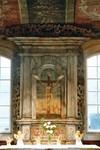 Altaruppsats i Norra Hestra kyrka med tavla av Detleff Ross. Neg.nr. B963_047:05. JPG.