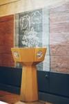 Dopfunt av Adolf Niklasson i Norra Hestra kyrka. Neg.nr. B963_046:21. JPG.