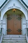 Ingång till Valdshults kyrka. Neg.nr. B963_052:23. JPG.