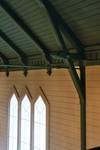 Detalj av den öppna takstolen i Valdshults kyrka. Neg.nr. B963_052:01. JPG.