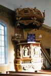 Predikstol av Gustaf Kihlman i Mulseryds kyrka. Neg.nr. B963_058:06. JPG.