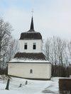 Skeppsås kyrka från norr. Klockboden. .