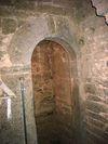 Källstad kyrka, portal vid tornkapellets norra mur.