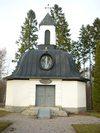 Skedevi kyrka, gravkapellet från söder.