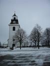Rystads kyrka från väster.