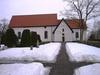 Skönberga kyrka, södra långsidan med södra korsarmen.