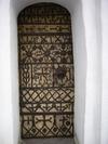 Skönberga kyrka, romansk smidesdörr i södra korsarmen.