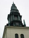 Sankt Lars kyrka, Linköping, tornspiran från nordväst.