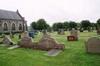 Del av kyrkogården söder om kyrkan.