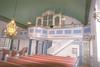 Orgelläktaren i Vessige kyrka.