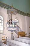 Predikstolen i Vessige kyrka.