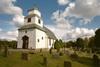 Gunnarps kyrka sedd från sydväst.