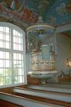 Predikstolen i Gunnarps kyrka.