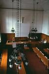 Norrköpings rådhus, rådstugorättens sal - foto från läktaren.