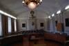 Tingssal, ev. fd rådhusrättens sal.
