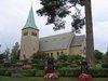 Skagershults nya kyrka, exteriör södra fasaden