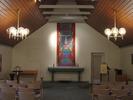 Interiör av Holavedskapellet.