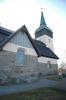 Hackvads kyrka, exteriör norra fasaden