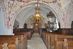 Kågeröds kyrka, långhuset mot altaret i öster
