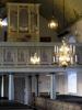 1700-talsläktare med provinsiellt barockmåleri och orgel från 1973.