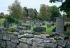 Kyrkogården från sydost.