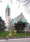 Sundbybergs kyrka från sydöst.