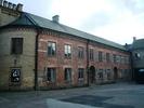 Karl XII-huset, Katedralskolan 8, Lund. Fasad mot gården, vy från nordväst.