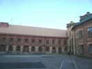 Katedralskolan 8, Lund. Gamla gymnastikhuset, fasad mot söder. Uppförd som stallänga 1807, påbyggd 1842 med en våning för att inrymma fäktsal. Ritningar utförda av CG Brunius.