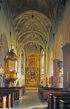 S:t Jacobs kyrka, kyrkorummet mot koret i öster.
