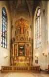 S:t Jacobs kyrka, koret med 1930-talets altaruppsats.