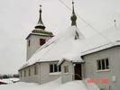 Kyrkan sedd från sakristian.