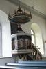 Högsrums kyrka, interiör, predikstolen.