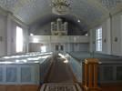 År 1889 köpte församlingen sin första orgel och den placerades i koret. Först 1909, när orgelläktaren byggts (efter ritningar av Torben Grut), placerades en orgel på läktaren. Trots läktarunderbyggnaden från 196667 ger även bakre delen av kyrkan ett vilsamt intryck, eftersom kyrkorummet hållits rent.