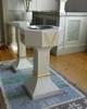Dopfunten är tillverkad av Birger Lindahl, Lövånger, 1946. Dopskålen av gammalt silver skänktes till kyrkan 1967.