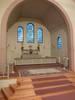 Bänkar, predikstol, altare och altarring är från kyrkans byggnadstid. Vid restaureringen 1956 byggdes emellertid dessa om något (se händelseboken för detaljer). Det målade korfönstret tillkom 1946.