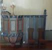 Predikstolen från Volgsjö kapell är daterad 1786, men trappan byggdes till 1934.