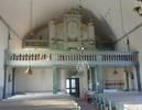 Orgelverken har bytts flera gånger men orgelfasaden tillkom med kyrkans första orgel 1863-64 och är genom sin utformning värdefull för kyrkorummet. De två läktarbarriärerna är troligt-vis från 1889 eller 1920. Armaturerna och lampetterna i mässing är från restaureringen 1966, då även läktarunder-byggnaden med brudkammare och kapprum tillkom. Vidombyggnaden till serveringsrum 2008 ställdes en klädhylla ut i kyrkorummet