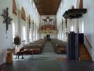 1962 togs de två främsta bänkraderna bort och 1972 för-ändrades inredningen på läktaren och en ny orgel tillkom. Kyrko-rummet är ändå i huvudsak mycket välbevarat. Nummer-tavlan är en av många inredningsdetaljer vars utformning är typisk både för tiden och för Knut Nordenskjölds formspråk.